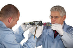 Motherboard inspection Stock Image