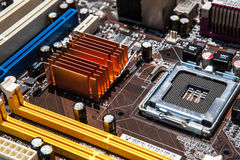 Motherboard. Mainboard or motherboard close up Stock Images