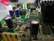 Motherboard Mainboard shipset Circuits Graphic circuit board stock photography