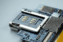 Motherboard. Prague, Czech Republic - January 31: Motherboard from iPhone 2G by Apple on January 31, 2016 in Prague, Czech Republic Royalty Free Stock Photography