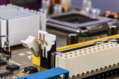 Motherboard processor and RAM socket Stock Photography