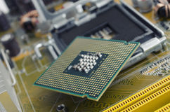Motherboard and processor Stock Images