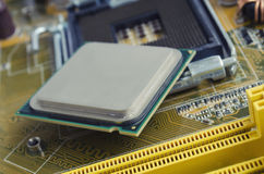 motherboard and processor Royalty Free Stock Photos