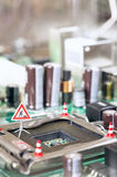 Motherboard repairing concept Stock Photography