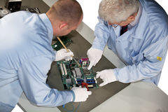 Motherboard repairs Royalty Free Stock Photos