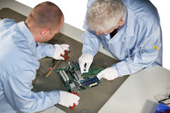 Motherboard repairs Stock Image