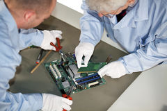 Motherboard repairs Stock Images