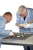 Motherboard repairs Royalty Free Stock Photography