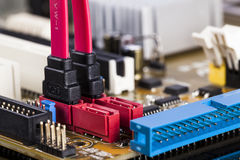 Motherboard SATA socket Stock Photography