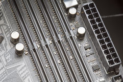 Motherboard socket Royalty Free Stock Images