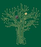 Motherboard tree Royalty Free Stock Photos