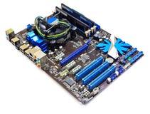 Motherboard van de computer Stock Afbeeldingen