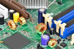 Motherboard van de computer Royalty-vrije Stock Afbeeldingen