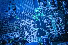 Motherboard van de elektronikatechniek digitale gegevens royalty-vrije stock fotografie