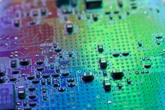 Motherboard van de elektronikatechniek digitale gegevens royalty-vrije stock foto