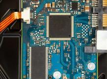 Motherboardnahaufnahme Baumuster 3D auf Weiß lizenzfreie stockbilder