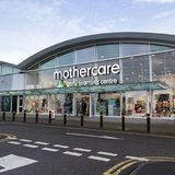Mothercare Early Learning Centre in shop facade stock image