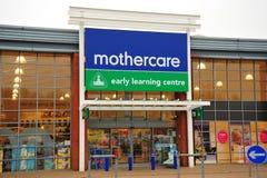 Mothercare Speicherfrontseite stockbild