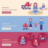 Motherhood Banner Set Stock Photos