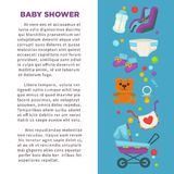 Motherhood happy mother and newborn child poster. Stock Images