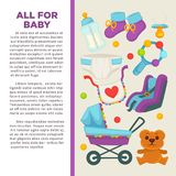 Motherhood happy mother and newborn child poster. Stock Photography