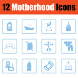 Motherhood icon set Royalty Free Stock Photo