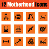 Motherhood icon set Royalty Free Stock Photography