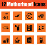 Motherhood icon set Stock Photo