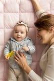 Motherhood joy Stock Photos