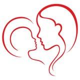 Motherhood love stock illustration