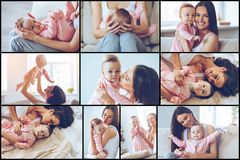 Motherhood is pure joy. Stock Images