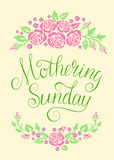 Mothering Sunday card Royalty Free Stock Photography