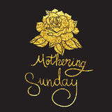 Mothering Sunday Lettering Stock Images