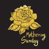 Mothering Sunday Lettering Royalty Free Stock Image
