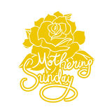 Mothering Sunday Lettering Stock Photography