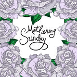 Mothering Sunday Lettering Royalty Free Stock Photo