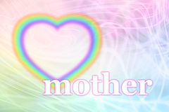 Mothering Sunday Rainbow Heart Frame Stock Photography