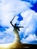 , the Motherland calls, in all the splendor of his worth stock photography