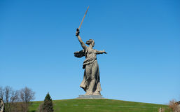 Motherland Calls in Mamayev Kurgan Royalty Free Stock Photo