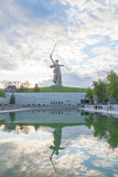 The Motherland Calls monument with its reflection Royalty Free Stock Image