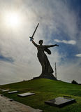 Motherland Calls monument. Memorial complex Mamayev Kurgan in Volgograd Royalty Free Stock Image
