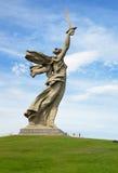 Motherland Calls monument. Memorial complex Mamayev Kurgan in Volgograd Stock Photos