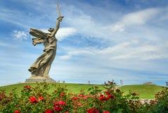 Motherland Calls monument. Memorial complex Mamayev Kurgan in Volgograd Stock Image