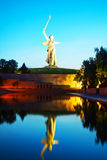 'The Motherland calls!' monument in Volgograd, Russia. VOLGOGRAD, RUSSIA - July 09: 'The Motherland calls!' monument in Volgograd, Russia on July 09, 2013 in stock images