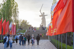 The Motherland Calls monument Royalty Free Stock Photos