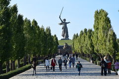 Motherland Calls. Stalingrad Mamaev hill, statue Motherland calls Russia sights Word War memorials great places stock photos