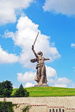 The Motherland Calls statue in Mamayev Kurgan Stock Images