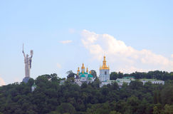 Motherland and Kiev Pechersk Lavra Orthodox Royalty Free Stock Photography