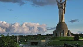 Motherland Monument. Kiev, Ukraine. stock video footage