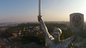 The Motherland Monument, Ukraine stock footage